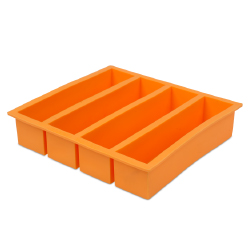 Cocktail Kingdom Flexible Collins Ice Cube Tray 4 forms - 5.25 x 1.25 x 1.25  inches
