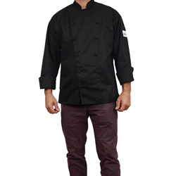 Chef Revival Cuisinier Chef's Jacket - Black - Regular