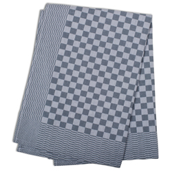 Black Check Side Towel 17.7