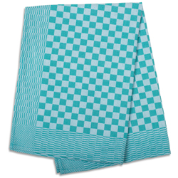 Green Check Side Towel 17.7
