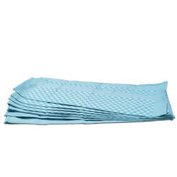 Green Check Side Towel 10 Pack 17.7