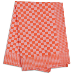 Orange Check Side Towel 17.7