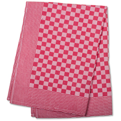 Red Check Side Towel 17.7