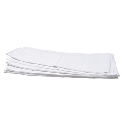 White Check Side Towel 10 Pack 17.7