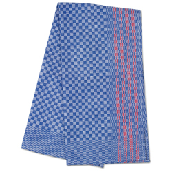 Premium Side Towel- Blue Check with Red Stripe 19.5