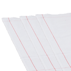 White Side Towel with Red Stripe 10 Pack17.7
