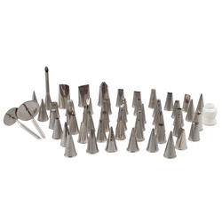 Metal Pastry Tip Set - 55 Piece
