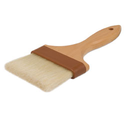 Natural Boar Bristle Pastry Brush - 4 inch Wide
