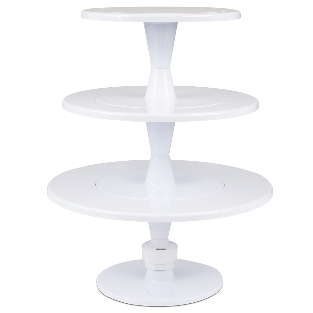 Hula Up White 3 Tier Cake Stand L