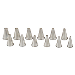 Rolled Edge Pastry Tip Set 12 pc Plain