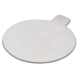 Round Pastry Boards: 3-1/4 inch Silver