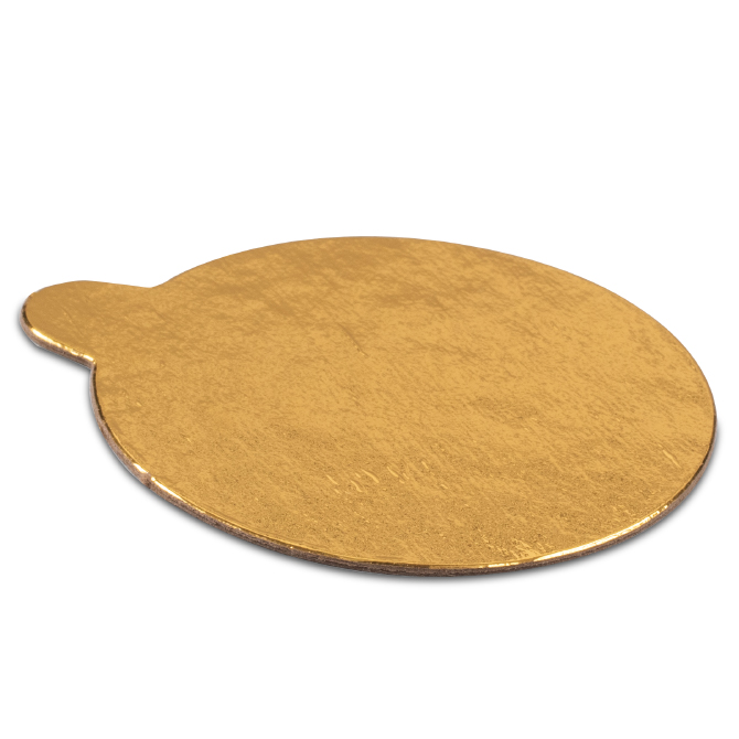 Round Pastry Board Gold With Tab