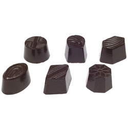 6 Assorted Shapes Chocolate Mold - 36 Forms