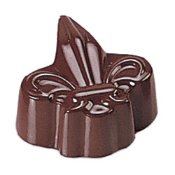 Fleur De Lis Shapes Chocolate Mold - 28 Forms