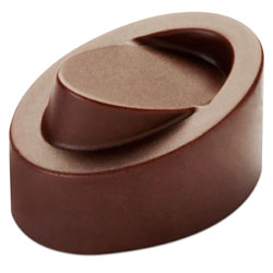 Tilted Oval Chocolate Mold