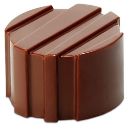 Ridged Cylinders Chocolate Mold