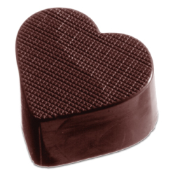 Textured Heart Chocolate Mold, 32 Forms