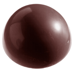100 Millimeter Demisphere Chocolate Mold, Single Form