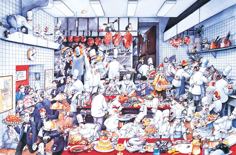 Krazy Kitchen Poster Large