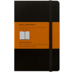 Moleskine Blk. Ruled Pocket Notebook