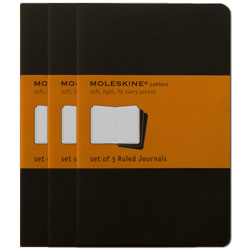 Moleskine Ruled Cahier - Pack of 3 Journals