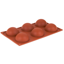 Orange Non-Stick - 6 Half Rounds