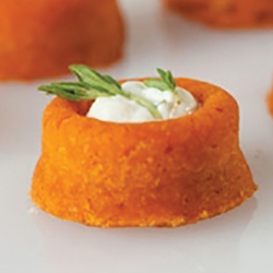 Orange Non Stick Micro Mini Savarin - 28 Forms