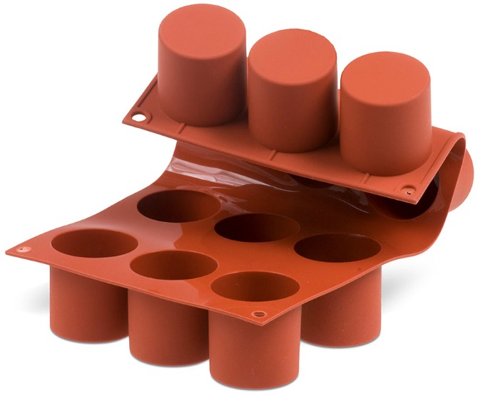 Flexible Silicone Tall Cylinder 12 Forms