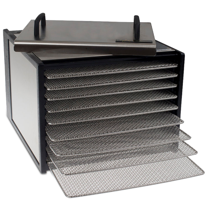 excalibur 9 tray deluxe dehydrator 26 h t ss dry rack. Black Bedroom Furniture Sets. Home Design Ideas