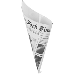 Newsprint Cardboard Cone 1.75 inch diameter 3.5 inches high