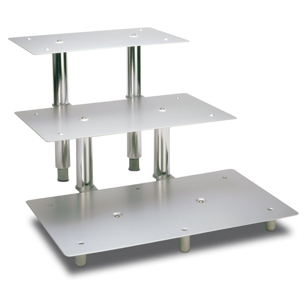Series Rectangular Display  sc 1 st  for cupcakes. & Rectangle Cake Stand. White Metal Rectangle Eyelet Cake Stands - 2 ...