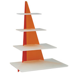 Orange Four Tier Display Stand