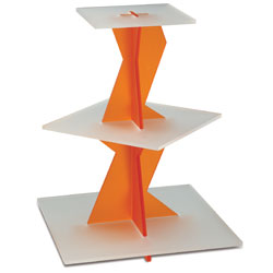 Orange Twist Display Stand