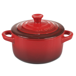 Individual Round Casserole - Red