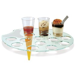 Comatec Crystal Plastic Palette Tray;