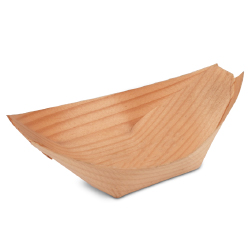 Poplar Wood Serving Boat - 3.75 inch