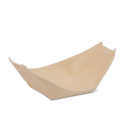 Wood Paper Serving Boat - Deep