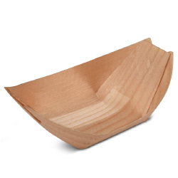 Mini Deep Poplar Wood Boat 2 5/8 x 2 x 1 inch