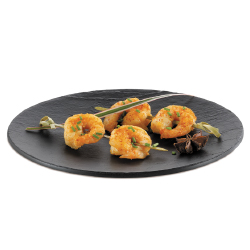 Comatec Faux Slate Oval Plate - 7 x 5 inch