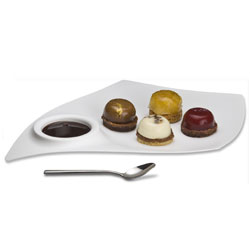 Tast Large Cocktail Plate White