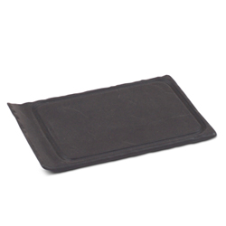 Porcelain Slate Grooved Tray