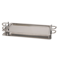 Stackable Rectangular Tray  21(with handlle 30) x 12.75 inch