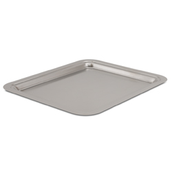Rectangular Tray with Brushed Finish 12.6 x 10.4 inch