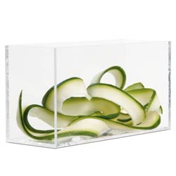 Comatec Rectangular Stackable Glass - 8oz., 4.6 x 1.5 x 2.3 inches
