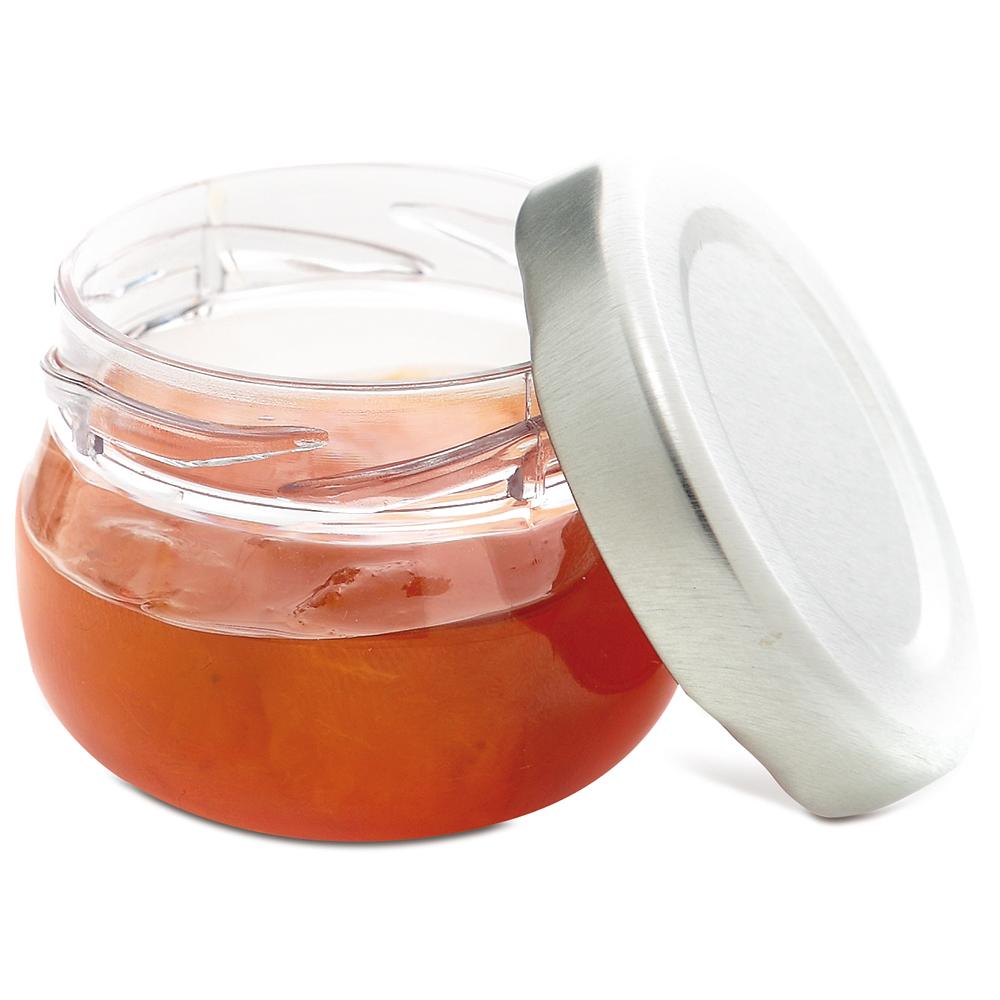 comatec mini jam pot with metal screw top lid. Black Bedroom Furniture Sets. Home Design Ideas