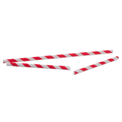 Paper Straws Red Striped