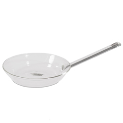 Borosilicate Glass Fry Pan 6 inch diameter