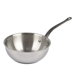 M' Cook Curved Splayed Saute Pan - 8 inch diam., 1.7 Quarts