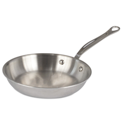 M'Cook Round Frying Pan Cast Stainless Steel Handle - 8-inches Diameter