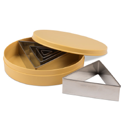 Triangular Cutter Set-Stainless Steel